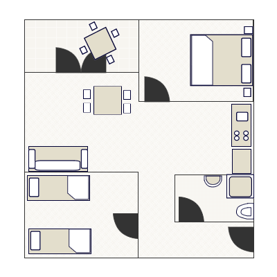 Ground-plan of the apartment - 1 - 4